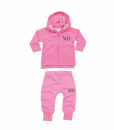 pink hoodie and joggers